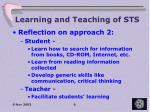 learning and teaching of sts3