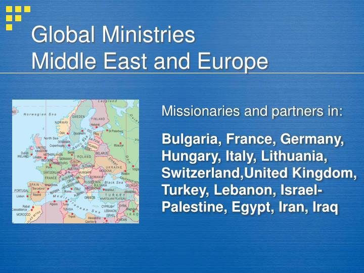 global ministries middle east and europe n.