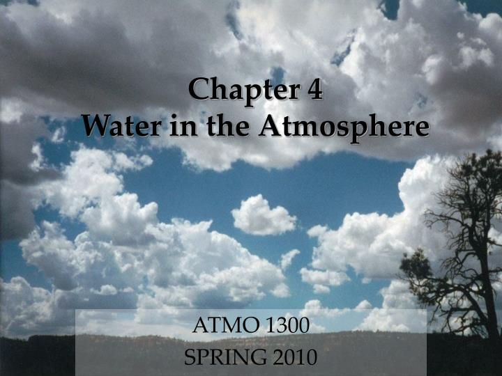 chapter 4 water in the atmosphere n.