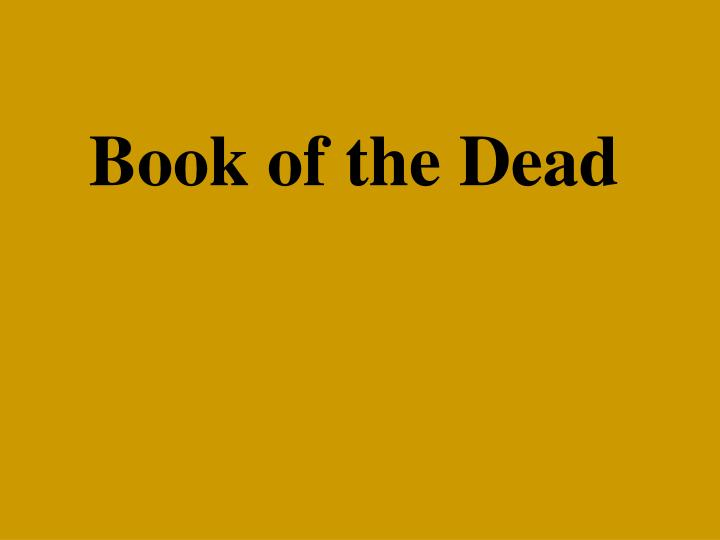 book of the dead n.