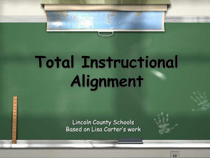 total instructional alignment n.