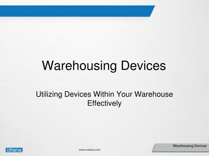 warehousing devices n.