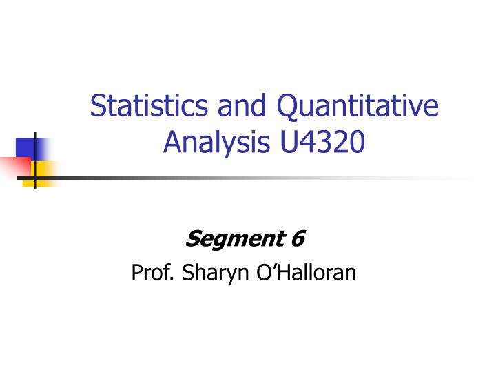 mcq on business statistics and quantitative analysis This session will provide information regarding descriptive statistics that are often used when reviewing assessment data we will cover the statistics avail.
