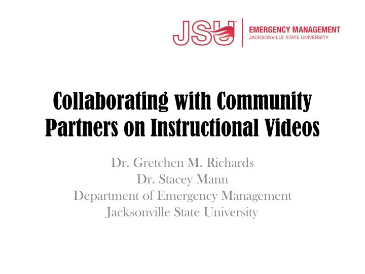collaborating with community partners on instructional videos n.