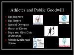 athletes and public goodwill