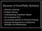 elements of good public relations