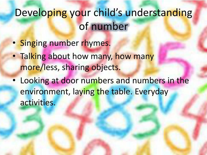 Developing your child's understanding of