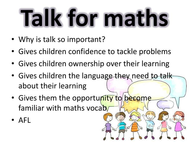 Talk for maths