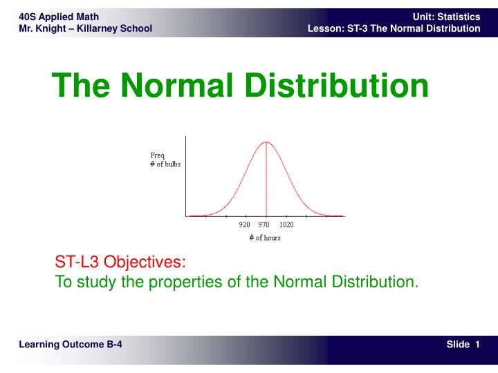 PPT - The Normal Distribution PowerPoint Presentation - ID:5328151