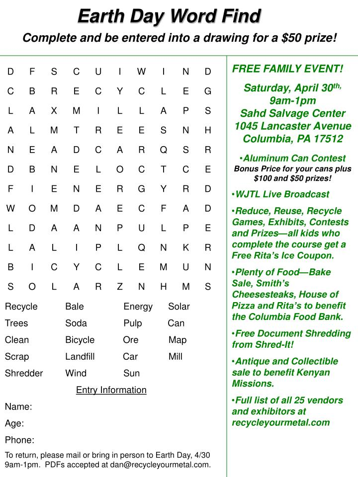 earth day word find n.