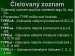 slovan zoznam