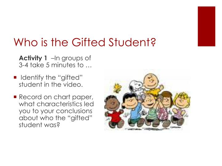 Who is the gifted student