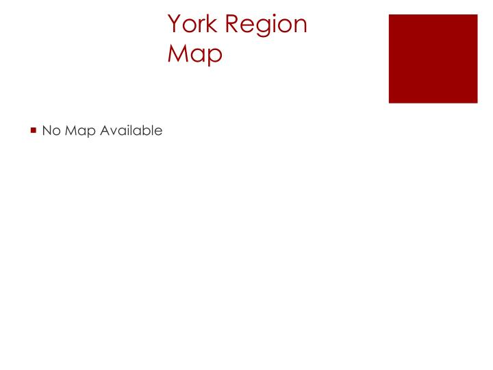 York Region Map