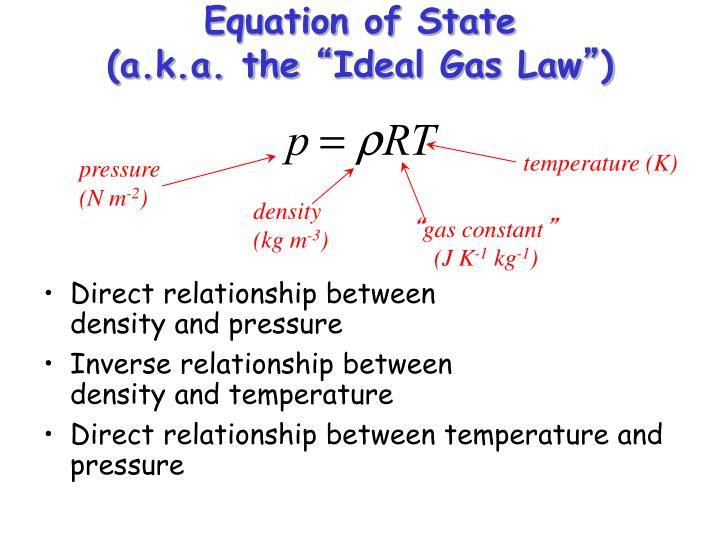 "PPT - Equation of State (a k a  the "" Ideal Gas Law"