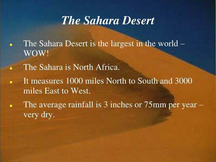 Ppt The Sahara Desert Powerpoint Presentation Id 5328461