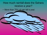 how much rainfall does the sahara receive a year