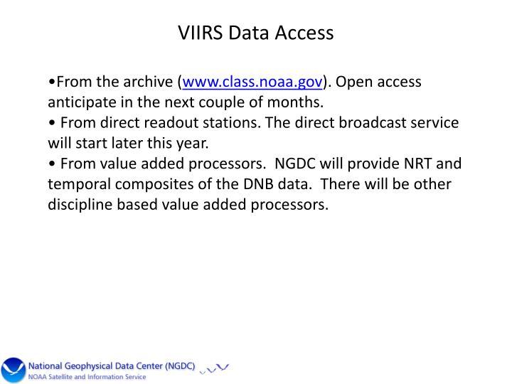 VIIRS Data Access