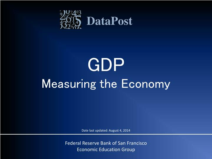 gdp measuring the economy n.