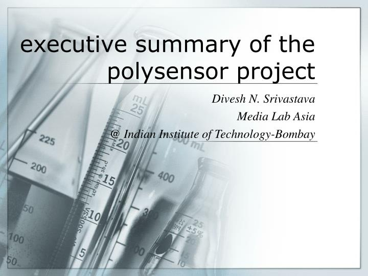 executive summary of the polysensor project n.
