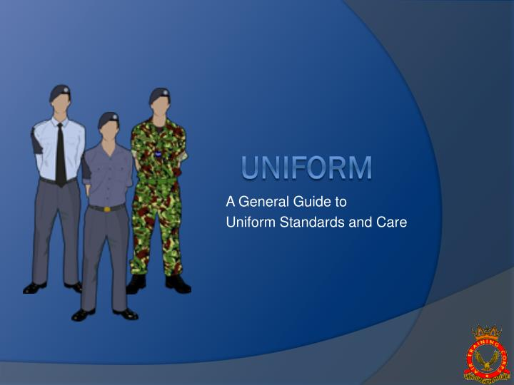 a general guide to uniform standards and care n.