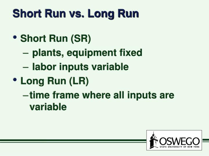 Short Run vs. Long Run