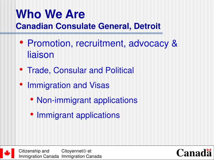Who we are canadian consulate general detroit