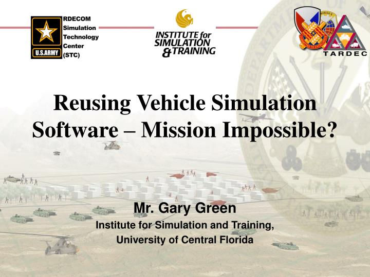 reusing vehicle simulation software mission impossible n.