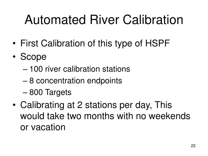Automated River Calibration