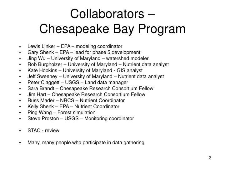 Collaborators chesapeake bay program