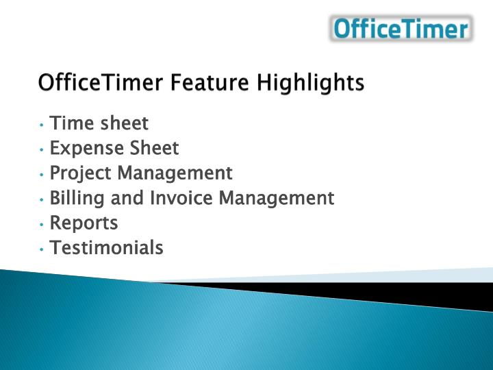 officetimer feature highlights n.