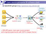 open source geospatial bi software stack
