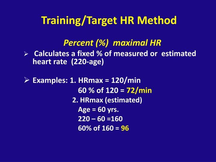 Training/Target HR Method