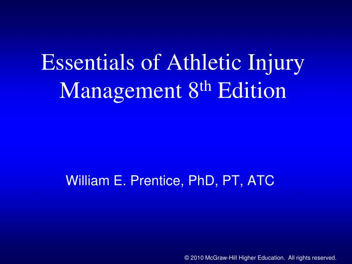 essentials of athletic injury management 8 th edition n.