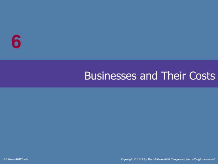 businesses and their costs n.