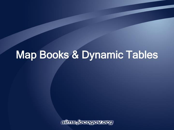 map books dynamic tables n.