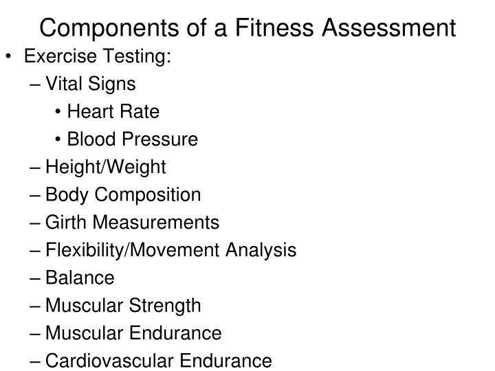 Components Of A Fitnessessment