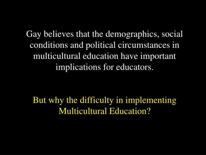 the importance of multicultural education a