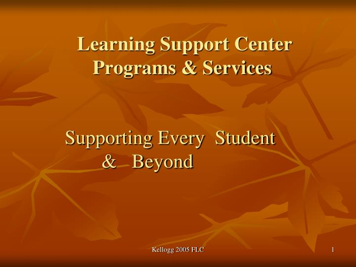 learning support center programs services n.
