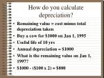 how do you calculate depreciation1