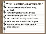 what is a business agreement