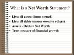 what is a net worth statement