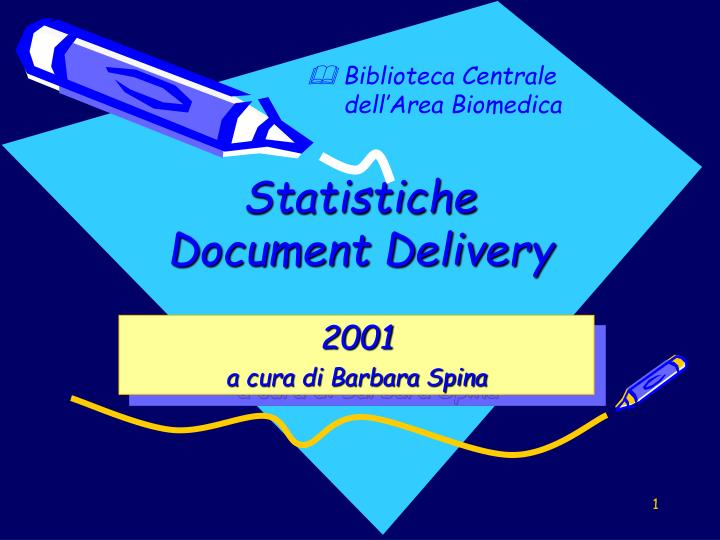 statistiche document delivery n.