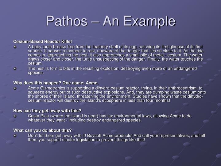 Pathos – An Example
