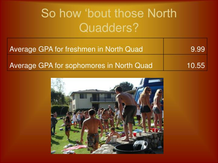 So how 'bout those North Quadders?