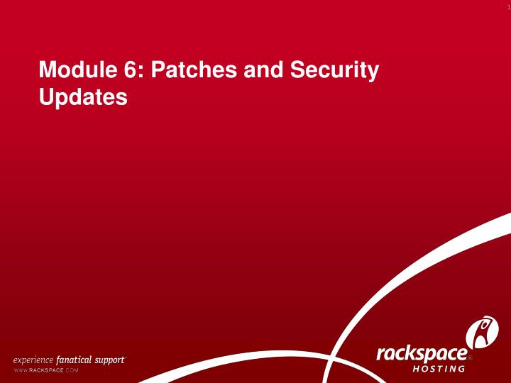 module 6 patches and security updates n.