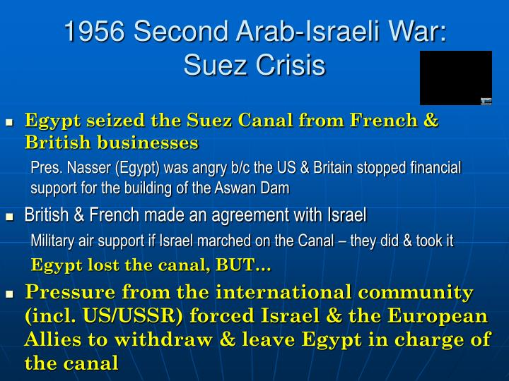 1956 Second Arab-Israeli War: