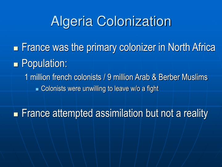 Algeria Colonization