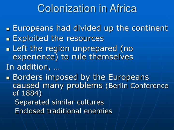 Colonization in Africa