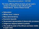 decolonization how