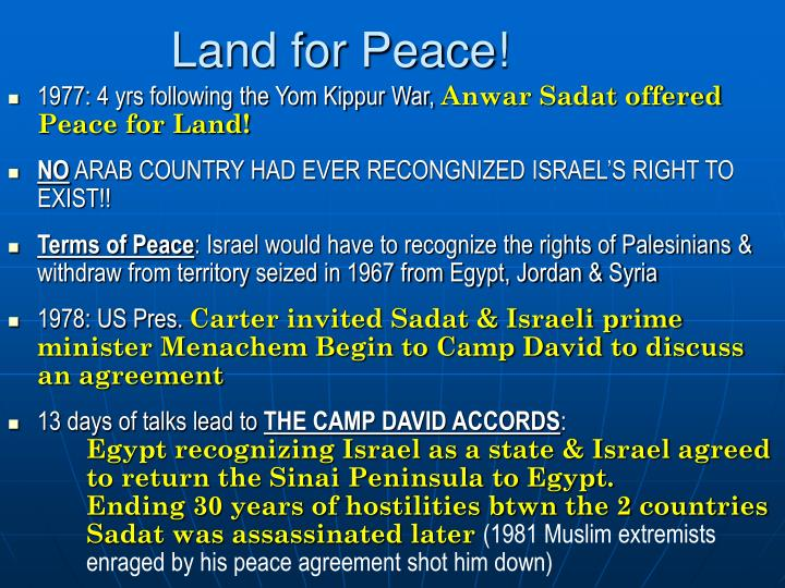 Land for Peace!